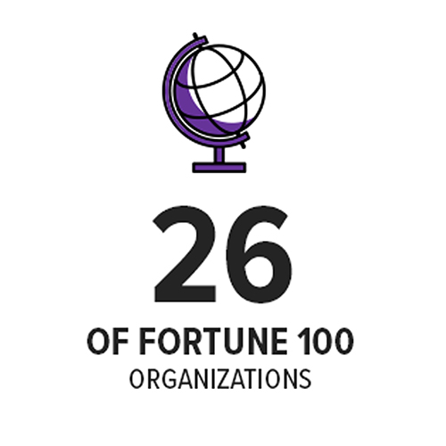 26 of the fourtune 100 organizations