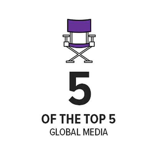 5 of the top 5 global media organizations
