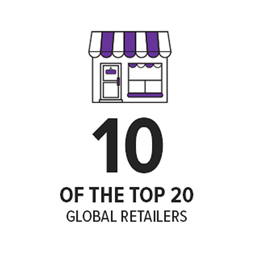 10 of the top 20 global retailers